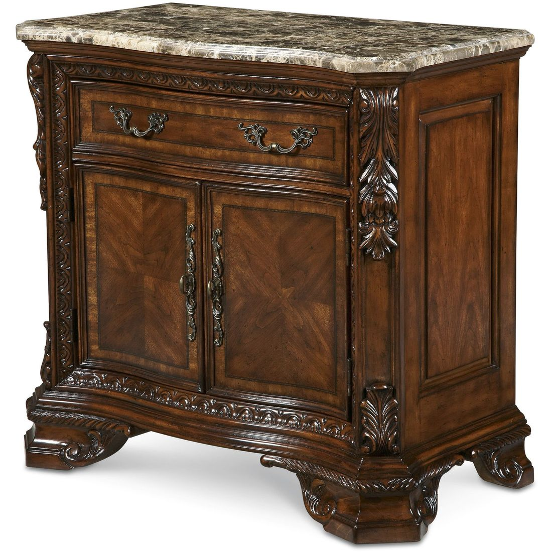 A.R.T. Furniture Old World Marble Top Nightstand Qty: $1,270.00