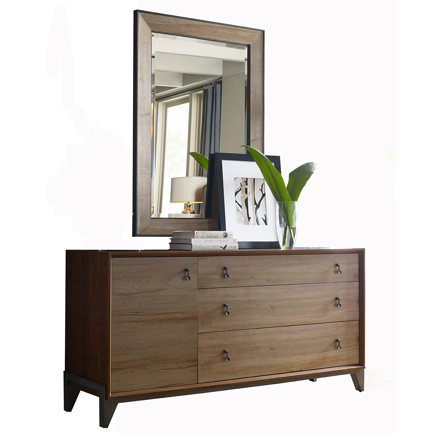 American drew ad modern synergy chevron maple king bedroom set - Contemporary maple bedroom furniture ...