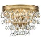 Crystorama Calypso 2 Light Vibrant Gold Sconce
