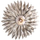 Crystorama Broche 1 Light Antique Silver Sconce