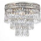 Crystorama Mercer 3 Light Clear Crystal Silver Flush Mount