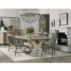 """Hooker Furniture Alfresco Vittorio 80"""" Rectangle Dining Set with 2-22in Leaves"""