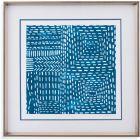 Bassett Mirror Company Modern Metallics Sashiko Stitches I Frame Art