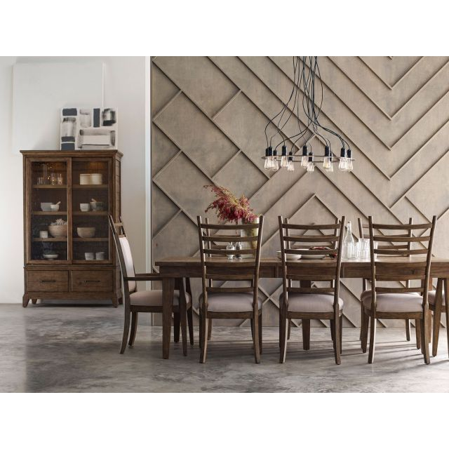 Kincaid Furniture Plank Road Rankin 7pc Rectangular Leg Table Set in Stone #636S-623S