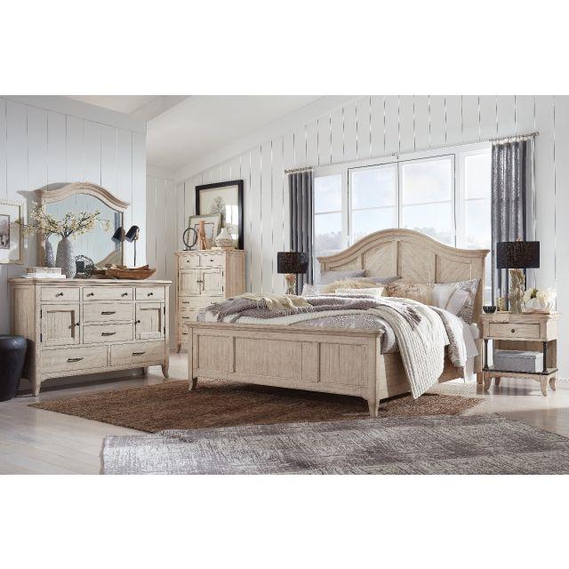 Magnussen Harlow Panel Bedroom Set in Weathered Bisque B5491-05