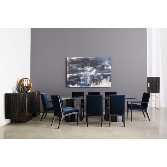 Caracole Modern Edge Vector Rectangular Dining Table Set