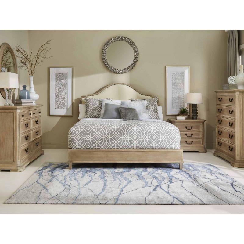 A R T Furniture Artiste Kirby Bone Uph, Weathered Oak Bedroom Furniture