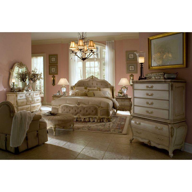 Aico Michael Amini Lavelle Blanc Wing, Michael Amini Furniture Bedroom Set