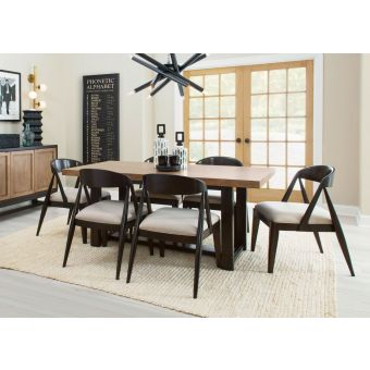 Legacy Classic Duo Trestle Dining Set - Two-tone