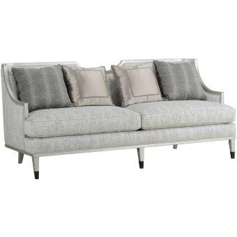 A.R.T. Furniture Intrigue Harper Bezel Sofa in Silver