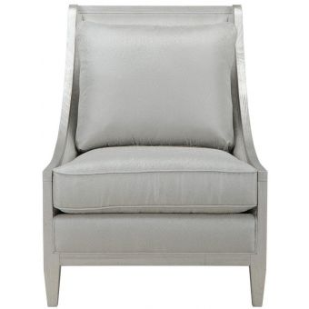 A.R.T. Furniture Intrigue Harper Bezel Accent Chair in Silver - CLEARANCE SALE