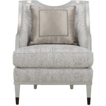 A.R.T. Furniture Intrigue Harper Bezel Matching Chair in Silver