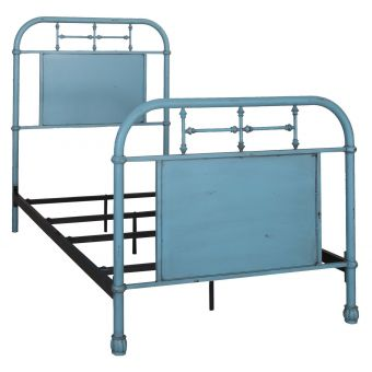 Liberty Furniture Vintage Series Youth Twin Metal Bed - Blue
