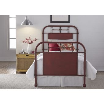 Liberty Furniture Vintage Series Youth Twin Metal Bed - Red