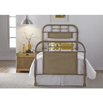 Liberty Furniture Vintage Series Youth Twin Metal Bed - Vintage White