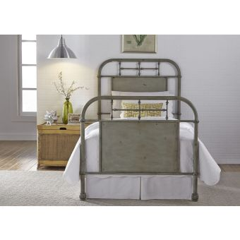Liberty Furniture Vintage Series Youth Full Metal Bed - Green