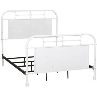 Liberty Furniture Vintage Series Youth Twin Metal Bed , Antique White