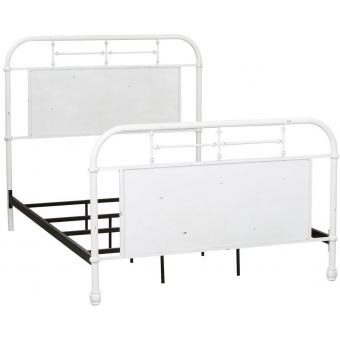 Liberty Furniture Vintage Series Youth Full Metal Bed , Antique White