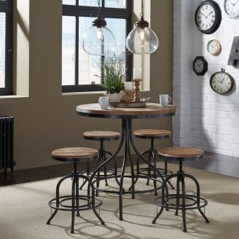 Liberty Furniture Vintage Pub Set in Weathered Gray