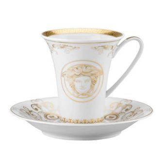 Versace Medusa Gala Gold Coffee Cup, 6 ounce