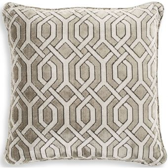 Eichholtz Pillow Trellis Grey Velvet