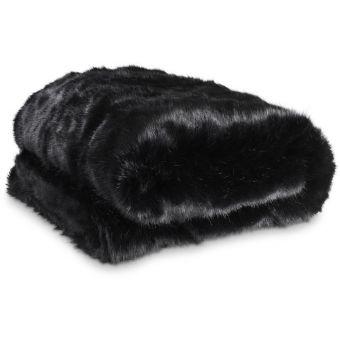 Eichholtz Plaid Alaska Faux Fur in Black