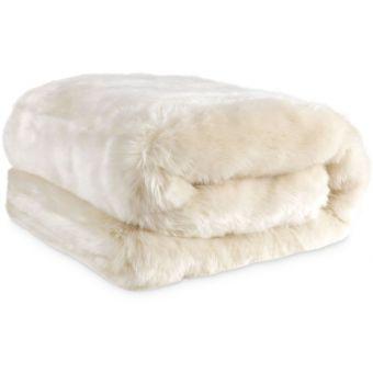 Eichholtz Plaid Alaska Faux Fur in Snow Panther