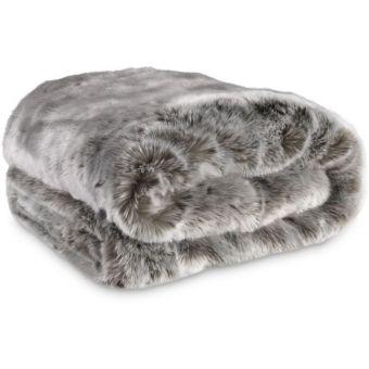 Eichholtz Plaid Alaska Faux Fur Grey