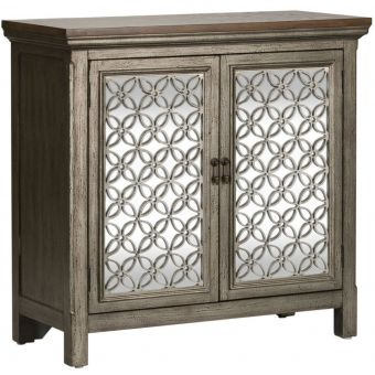 Liberty Furniture Westridge Two Door Accent Cabinet in Wire Brushed Gray