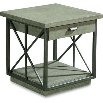 A.R.T. Furniture Arch Salvage Burton End Table in Mist (CL1A) - CLEARANCE SALE