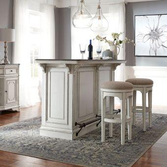 Liberty Furniture Magnolia Manor Bar Set with Marble Top