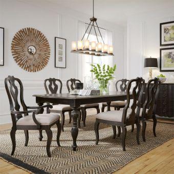 Liberty Furniture Chesapeake Rectangular Leg Dining Set in Antique Black