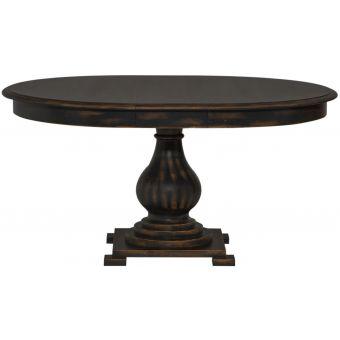 Liberty Furniture Chesapeake Round Pedestal Dining Table in Antique Black