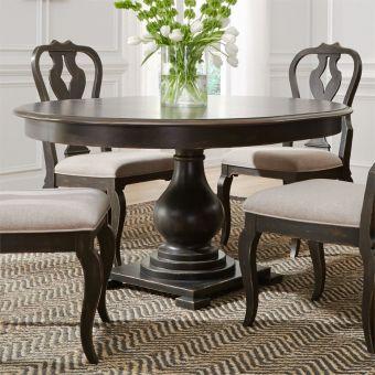 Liberty Furniture Chesapeake Round Pedestal Dining Set in Antique Black