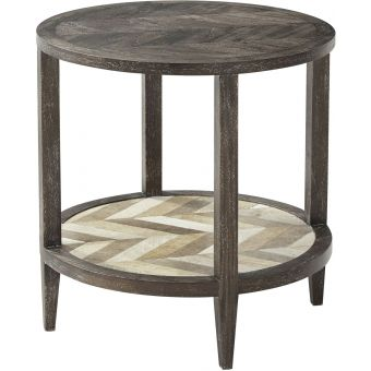 Theodore Alexander Highlands Marco Accent Round Side Table