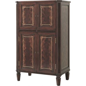 Theodore Alexander The English Cabinetmaker Traveller's Club Bar Cabinet