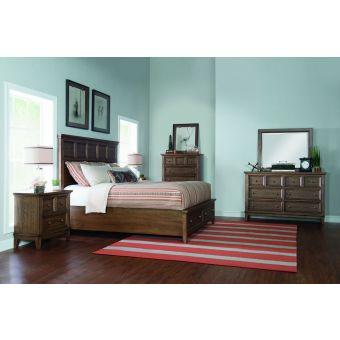 Legacy Classic Forest Hills Panel Bedroom Set with Storage Footboard, California King