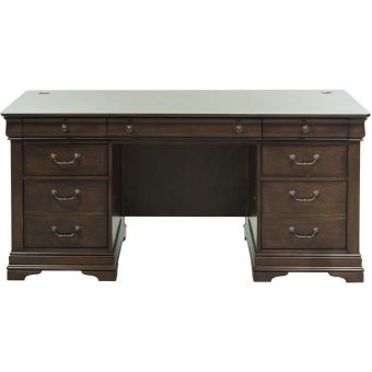 Liberty Furniture Chateau Valley Jr Executive Desk in Brown Cherry
