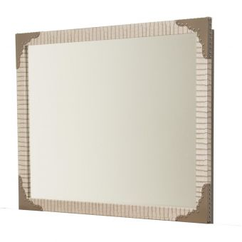 AICO Michael Amini Valise Upholstered Wall Mirror (CL1A) - CLEARANCE SALE