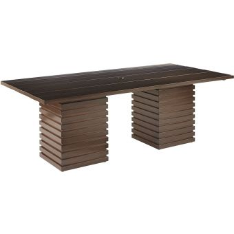 A.R.T. Furniture Epicenters Outdoor Cypress Rectangular Dining Table in Ebony (CL1A) - CLEARANCE SALE