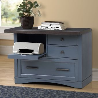 Parker House Americana Modern Functional File with Power Center in Denim