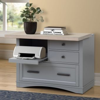 Parker House Americana Modern Functional File with Power Center in Dove