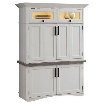 Parker House Americana Modern Workstation With LED Light - Cotton
