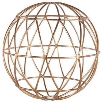 Worlds Away Geometric 12 Inch Sphere in Gold Leaf (CL1A) - CLEARANCE SALE