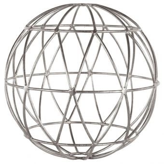 Worlds Away Geometric 12 Inch Sphere in Silver Leaf (CL1A) - CLEARANCE SALE