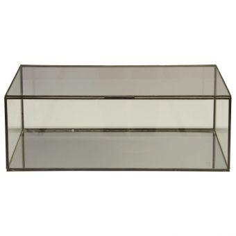 Worlds Away Rectangular Clear Glass Box