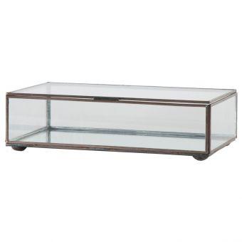 Worlds Away Medium Rectangular Box with Clear Glass