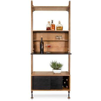 Nuevo Furniture Theo Modular Shelves Bar Unit in Hard Fumed