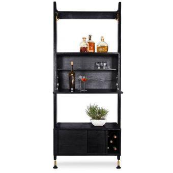 Nuevo Furniture Theo Modular Shelves Bar Unit in Black