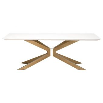 Essentials For Living District Industry Rectangle Dining Table - Ivory